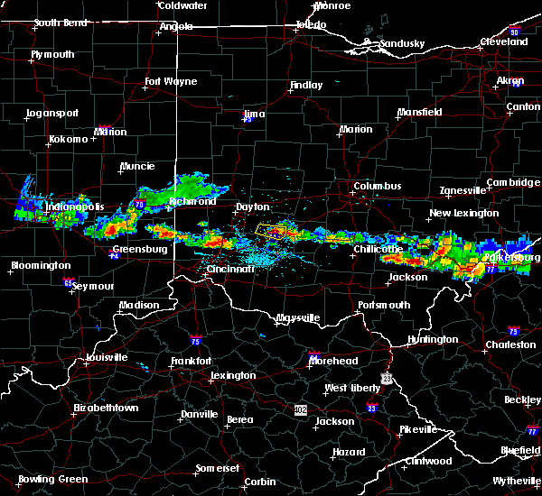 Radar Image for Severe Thunderstorms near Jamestown, OH at 6/3/2020 8:11 PM EDT