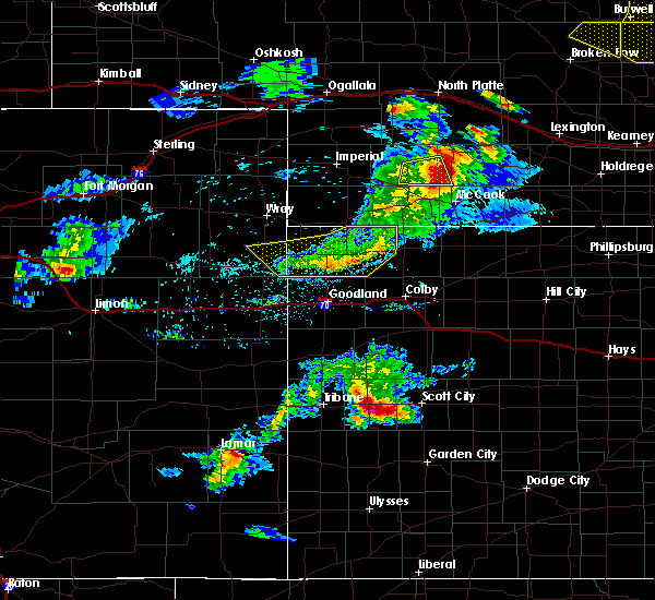 Radar Image for Severe Thunderstorms near Marienthal, KS at 6/3/2020 7:22 PM CDT