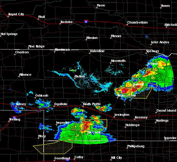 Radar Image for Severe Thunderstorms near Ewing, NE at 6/3/2020 7:27 PM CDT