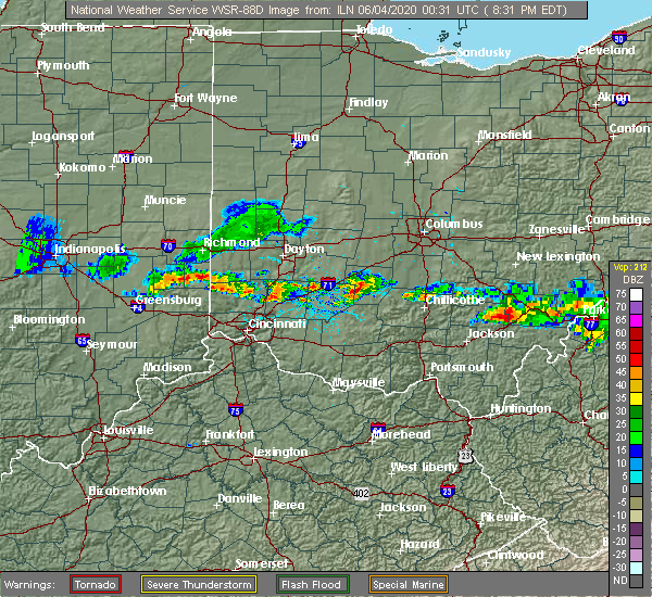 Radar Image for Severe Thunderstorms near Milledgeville, OH at 6/3/2020 8:35 PM EDT