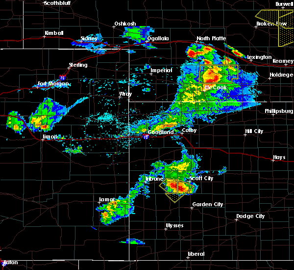 Radar Image for Severe Thunderstorms near Marienthal, KS at 6/3/2020 7:44 PM CDT