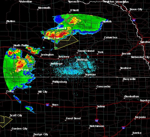 Radar Image for Severe Thunderstorms near Maywood, NE at 6/3/2020 7:44 PM CDT