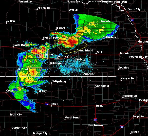 Radar Image for Severe Thunderstorms near Central City, NE at 6/3/2020 8:40 PM CDT