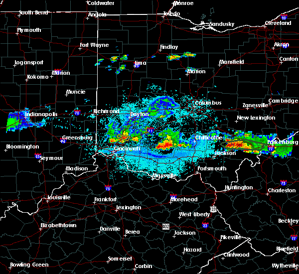 Radar Image for Severe Thunderstorms near South Lebanon, OH at 6/3/2020 9:57 PM EDT