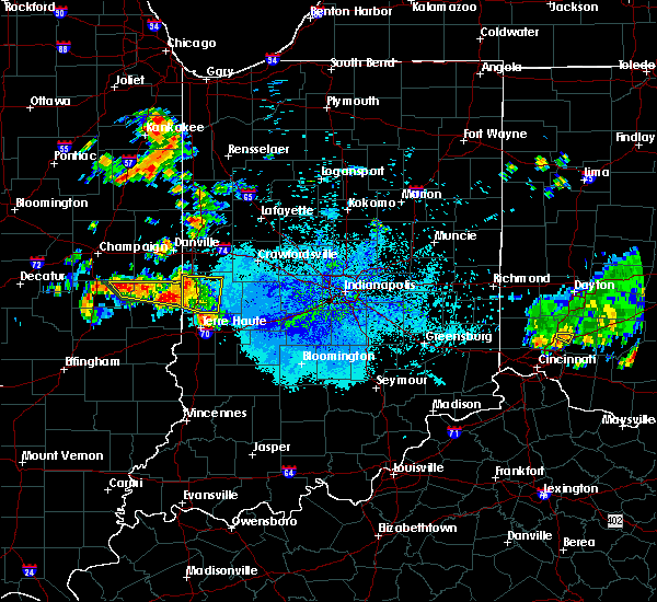 Radar Image for Severe Thunderstorms near St. Mary of the Woods, IN at 6/3/2020 10:03 PM EDT