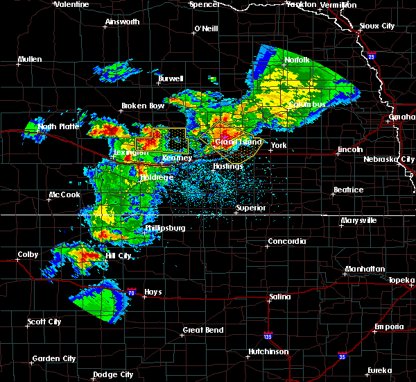 Radar Image for Severe Thunderstorms near Chapman, NE at 6/3/2020 9:10 PM CDT