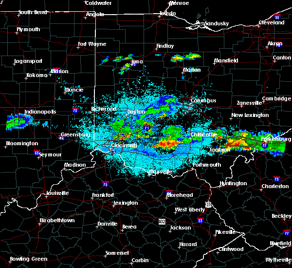 Radar Image for Severe Thunderstorms near South Lebanon, OH at 6/3/2020 10:11 PM EDT