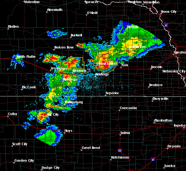 Radar Image for Severe Thunderstorms near Chapman, NE at 6/3/2020 9:18 PM CDT