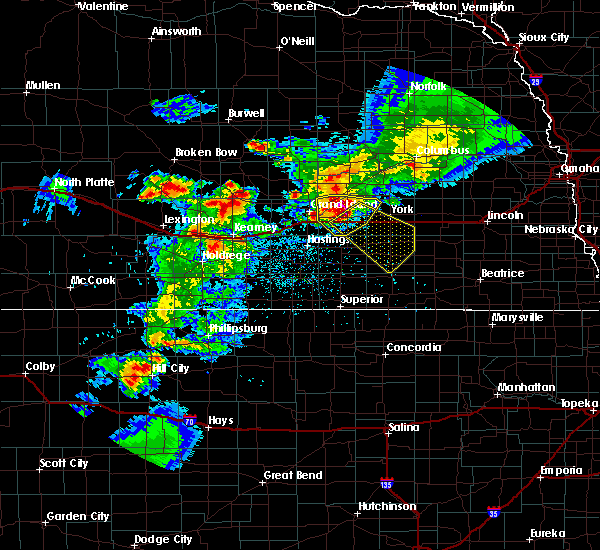 Radar Image for Severe Thunderstorms near Bradshaw, NE at 6/3/2020 9:22 PM CDT
