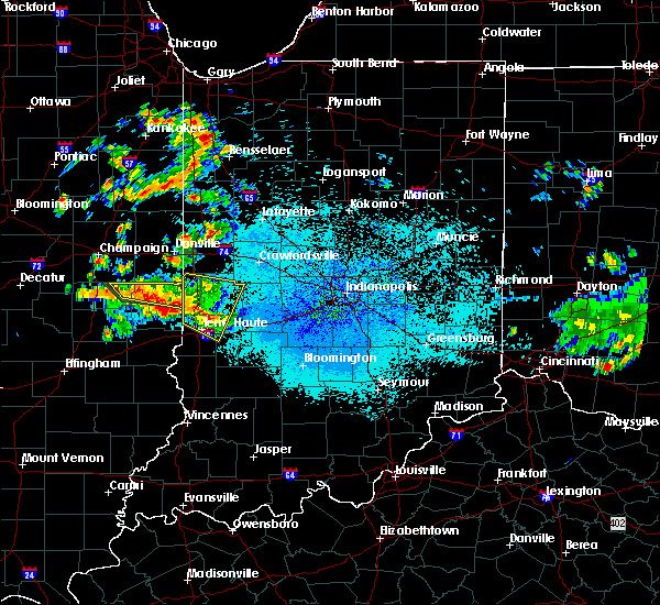 Radar Image for Severe Thunderstorms near Staunton, IN at 6/3/2020 10:29 PM EDT