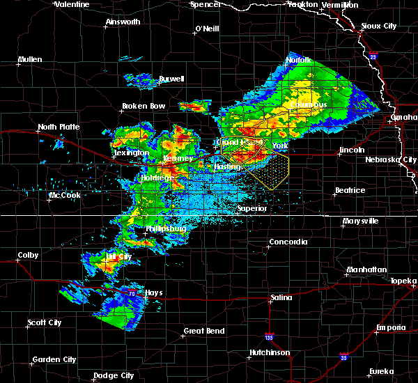 Radar Image for Severe Thunderstorms near Chapman, NE at 6/3/2020 9:41 PM CDT