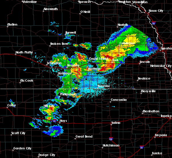 Radar Image for Severe Thunderstorms near Ong, NE at 6/3/2020 9:57 PM CDT