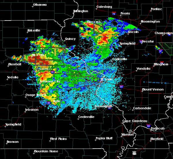 Radar Image for Severe Thunderstorms near Clark, MO at 6/3/2020 10:18 PM CDT