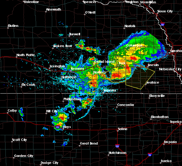 Radar Image for Severe Thunderstorms near Ong, NE at 6/3/2020 10:22 PM CDT