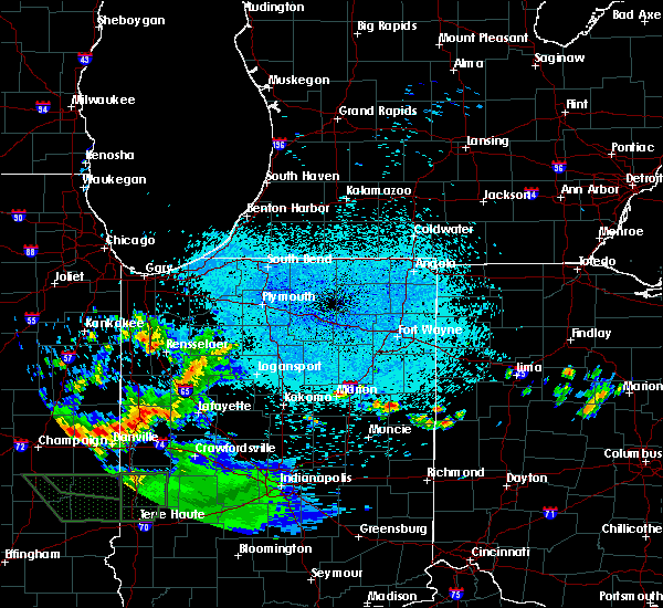 Radar Image for Severe Thunderstorms near Landess, IN at 6/3/2020 11:45 PM EDT