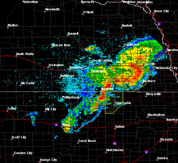 Radar Image for Severe Thunderstorms near Webber, KS at 6/3/2020 10:59 PM CDT