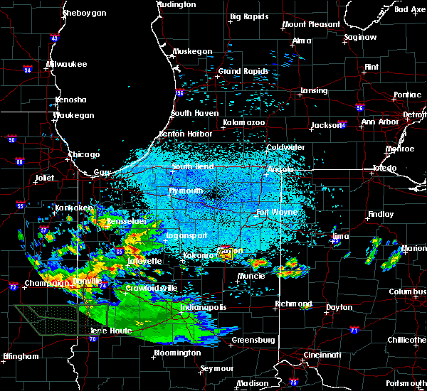 Radar Image for Severe Thunderstorms near Landess, IN at 6/4/2020 12:03 AM EDT