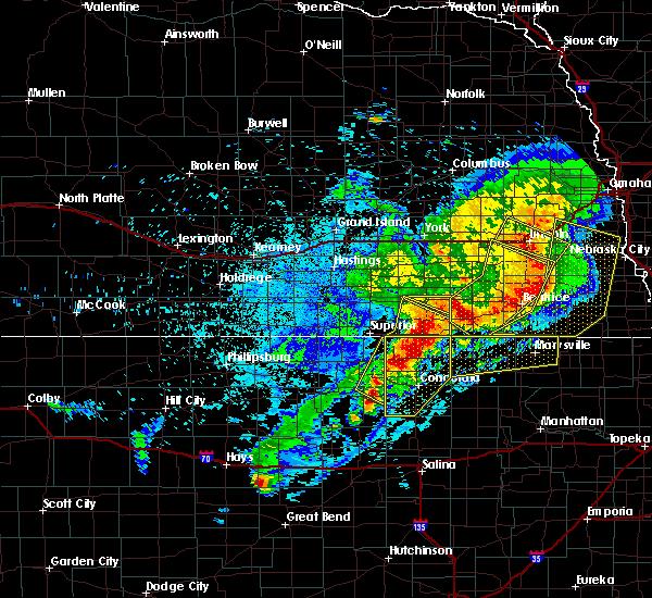 Radar Image for Severe Thunderstorms near Alexandria, NE at 6/3/2020 11:16 PM CDT