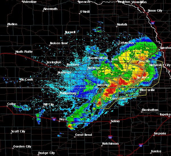 Radar Image for Severe Thunderstorms near Clyde, KS at 6/3/2020 11:35 PM CDT