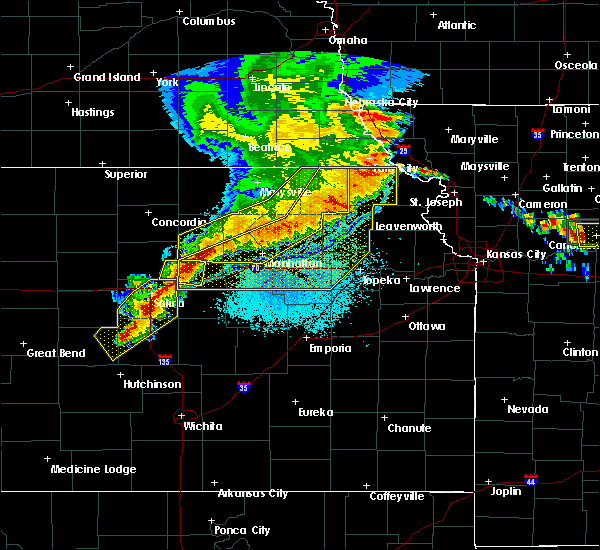 Radar Image for Severe Thunderstorms near Rosendale, MO at 6/4/2020 12:49 AM CDT