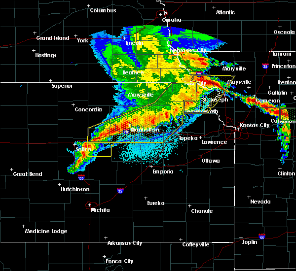 Radar Image for Severe Thunderstorms near Rosendale, MO at 6/4/2020 1:09 AM CDT
