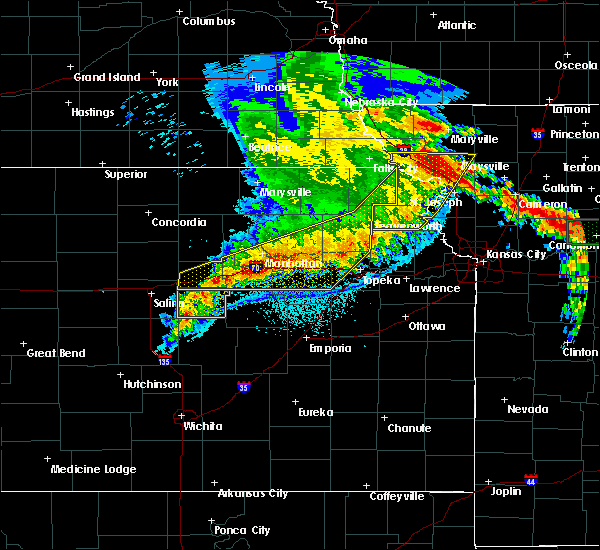 Radar Image for Severe Thunderstorms near Carlton, KS at 6/4/2020 1:26 AM CDT