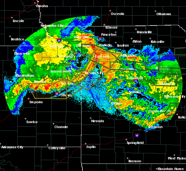 Radar Image for Severe Thunderstorms near Weatherby Lake, MO at 6/4/2020 2:11 AM CDT