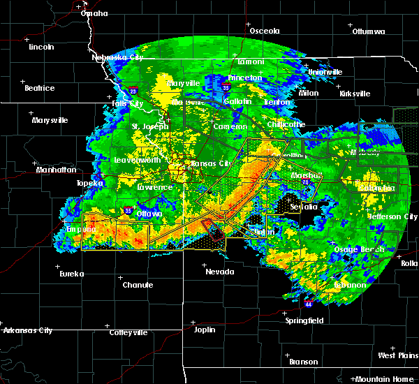 Radar Image for Severe Thunderstorms near Richards, MO at 6/4/2020 3:24 AM CDT