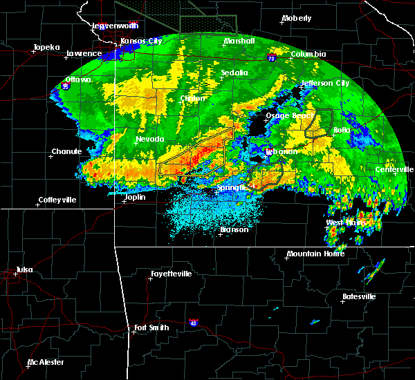 Radar Image for Severe Thunderstorms near South Greenfield, MO at 6/4/2020 4:41 AM CDT