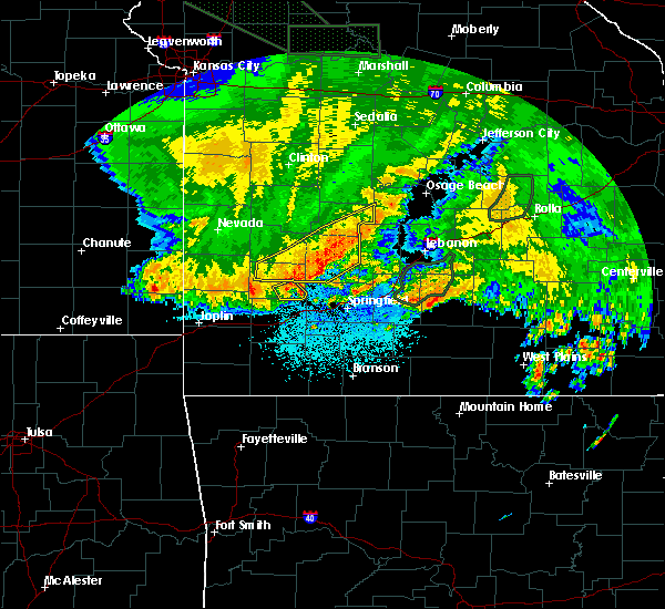 Radar Image for Severe Thunderstorms near Strafford, MO at 6/4/2020 4:48 AM CDT