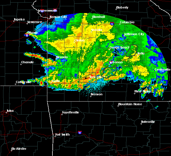 Radar Image for Severe Thunderstorms near Reeds Spring, MO at 6/4/2020 5:13 AM CDT