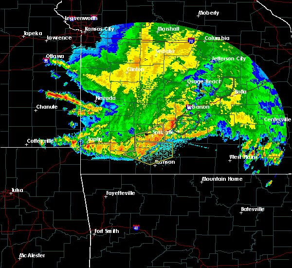 Radar Image for Severe Thunderstorms near Springfield, MO at 6/4/2020 5:23 AM CDT