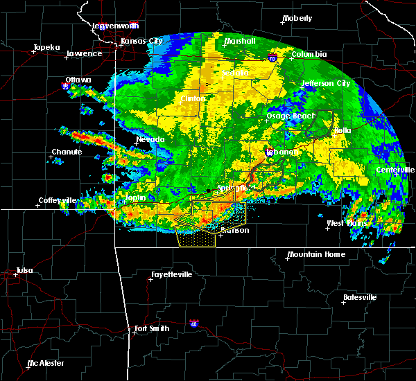 Radar Image for Severe Thunderstorms near Hollister, MO at 6/4/2020 5:28 AM CDT