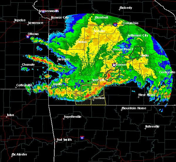 Radar Image for Severe Thunderstorms near Reeds Spring, MO at 6/4/2020 5:34 AM CDT