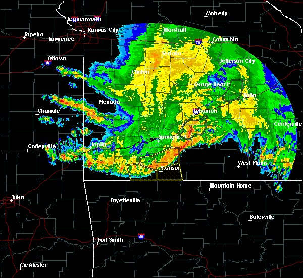 Radar Image for Severe Thunderstorms near Ava, MO at 6/4/2020 5:43 AM CDT