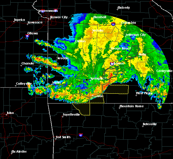 Radar Image for Severe Thunderstorms near Reeds Spring, MO at 6/4/2020 5:48 AM CDT