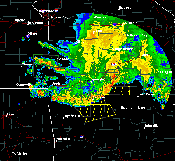Radar Image for Severe Thunderstorms near Reeds Spring, MO at 6/4/2020 5:53 AM CDT