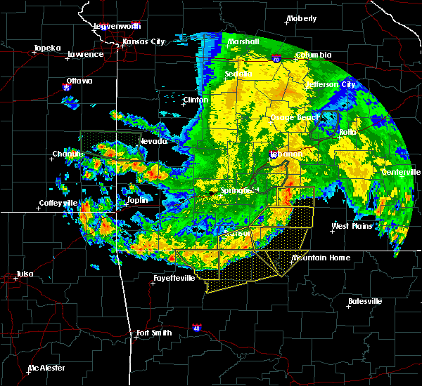 Radar Image for Severe Thunderstorms near Hollister, MO at 6/4/2020 6:13 AM CDT