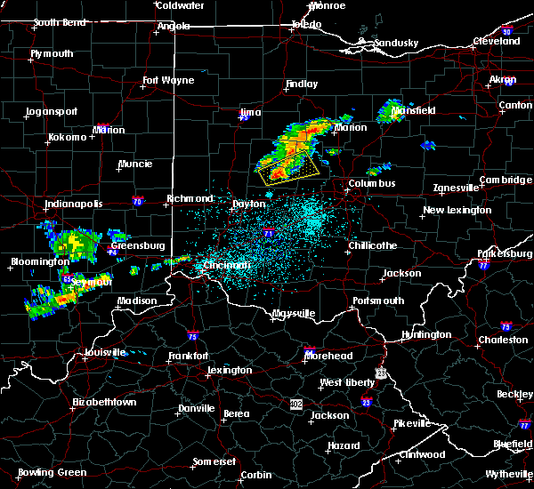 Radar Image for Severe Thunderstorms near West Liberty, OH at 6/4/2020 11:45 AM EDT