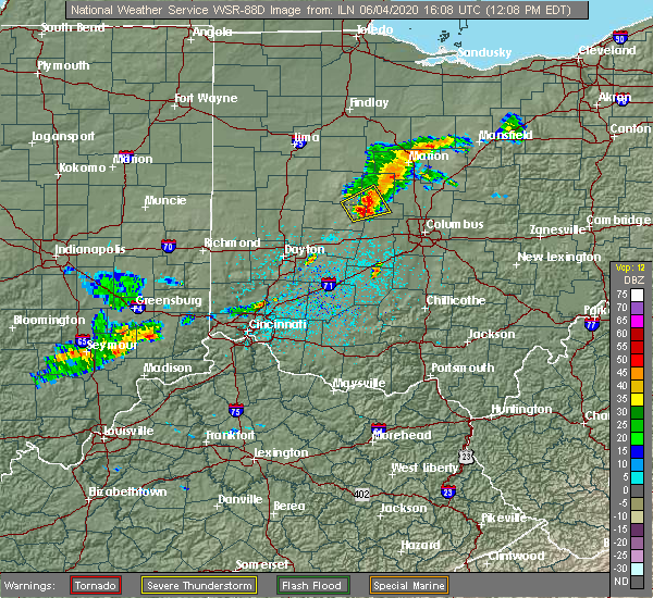 Radar Image for Severe Thunderstorms near Shawnee Hills, OH at 6/4/2020 12:13 PM EDT