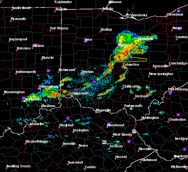 Radar Image for Severe Thunderstorms near Lawrenceburg, IN at 6/4/2020 1:02 PM EDT