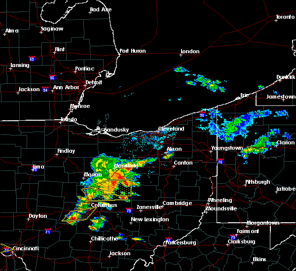 Radar Image for Severe Thunderstorms near Howard, OH at 6/4/2020 1:28 PM EDT