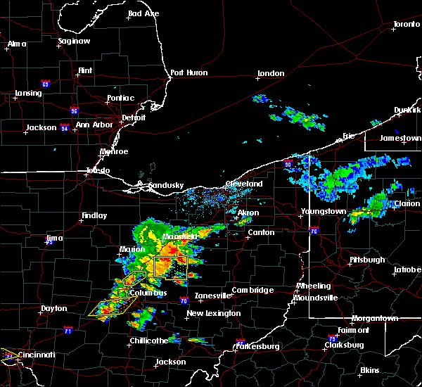 Radar Image for Severe Thunderstorms near Nashville, OH at 6/4/2020 1:32 PM EDT