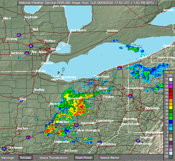 Radar Image for Severe Thunderstorms near Sugarcreek, OH at 6/4/2020 1:55 PM EDT