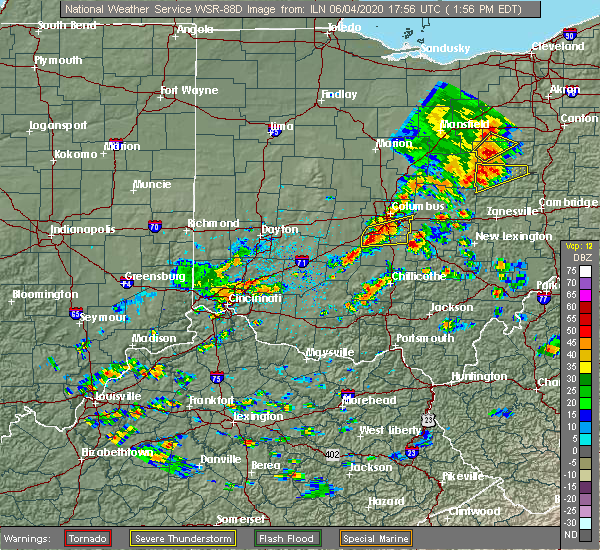 Radar Image for Severe Thunderstorms near Rushville, OH at 6/4/2020 1:57 PM EDT
