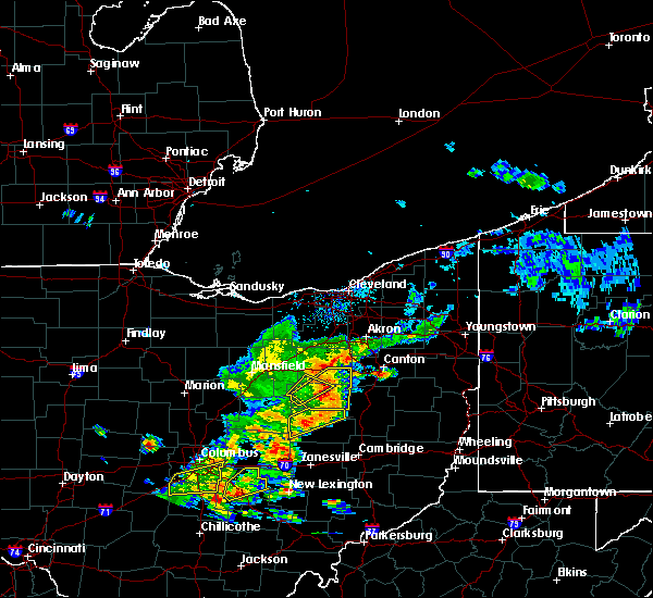 Radar Image for Severe Thunderstorms near Zoar, OH at 6/4/2020 2:21 PM EDT