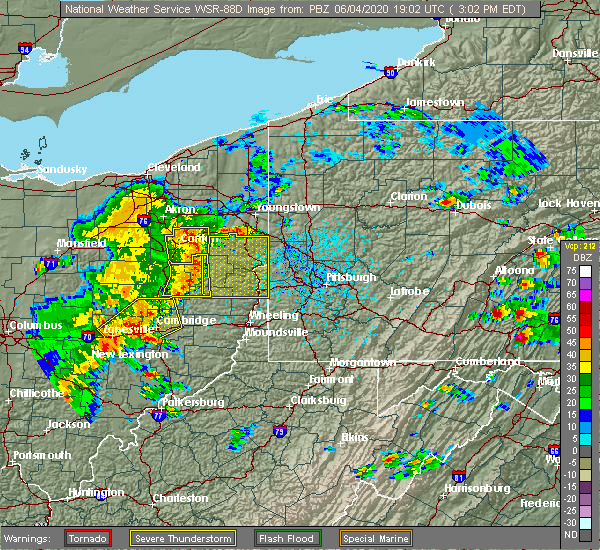 Radar Image for Severe Thunderstorms near Minerva, OH at 6/4/2020 3:08 PM EDT
