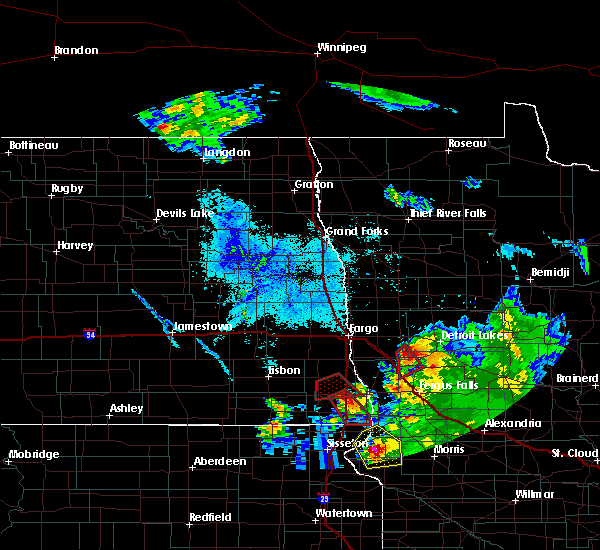 Radar Image for Severe Thunderstorms near Pelican Rapids, MN at 6/27/2015 8:31 PM CDT