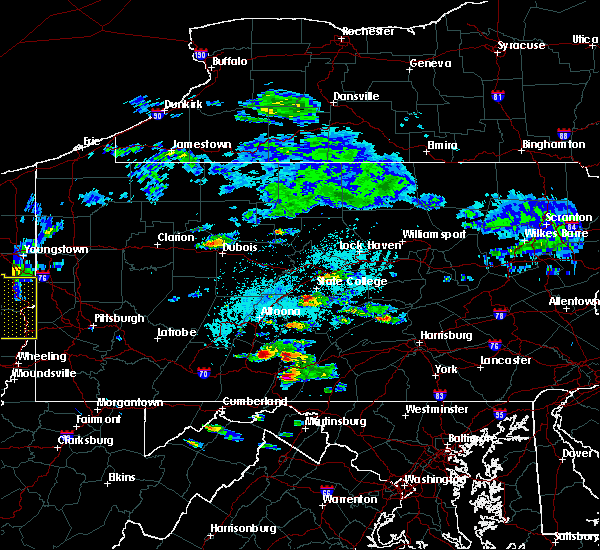Radar Image for Severe Thunderstorms near Broad Top City, PA at 6/4/2020 3:14 PM EDT