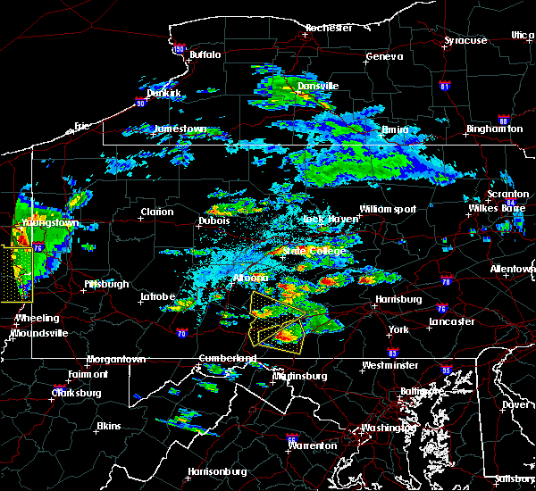 Radar Image for Severe Thunderstorms near Broad Top City, PA at 6/4/2020 3:57 PM EDT